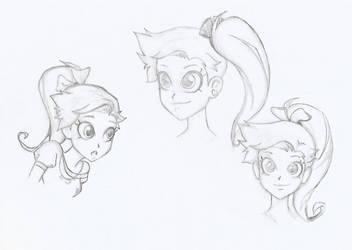 Random Auriana sketches by Yukaru00