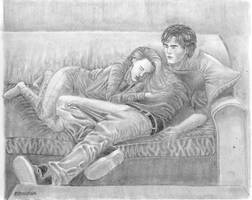 Patch and Nora from Hush, Hush by elenouska15