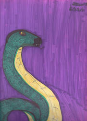Snake against the Purple by Anthrokid