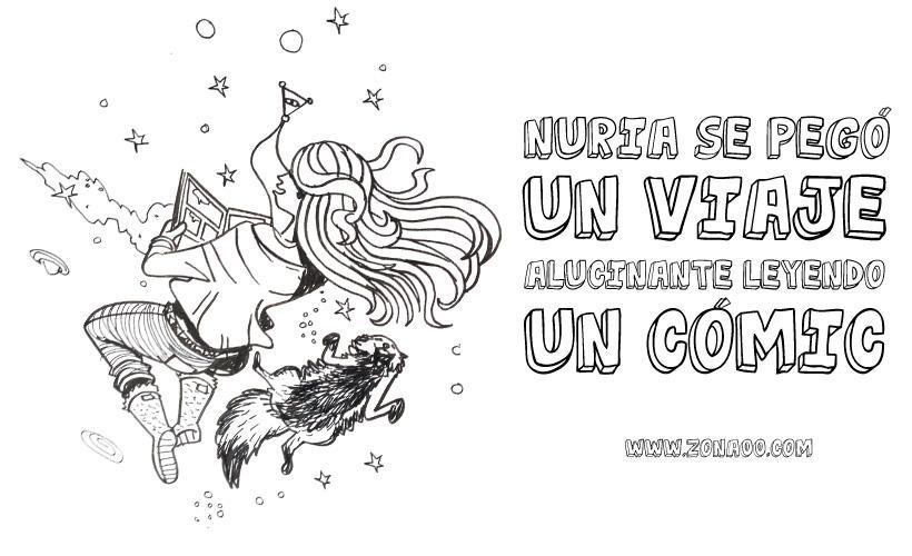 Nuria read comics by ErtitoMontana