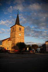 Church at sunset by Eligius57