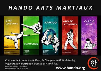 Flyer Hando Arts Martiaux 2012/2013 by Eligius57