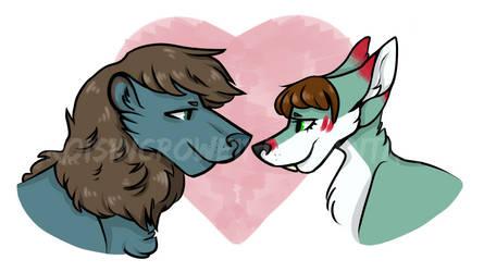 Valentines Furries by roisincrowe11