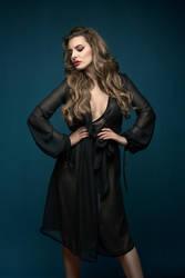 Aylin in black seductive by Metzil