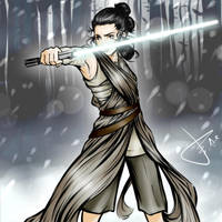 Rey star wars the force awakens by Pegasusarts