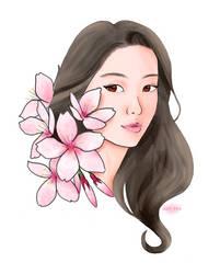 Sakura Self Portrait by AnhPho