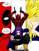 Trunks vs. Deadpool by xXTrunks-BriefsxX
