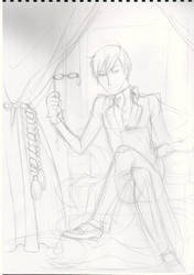Kyouya - basic sketch by the-pink-angel