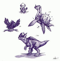 Pokedoodles Week One by Phycofox
