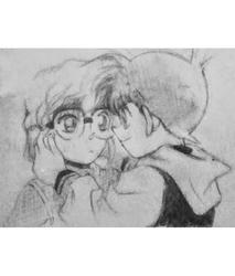 Haibara and Conan by Momo11997jb