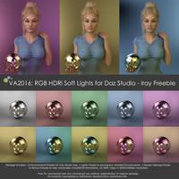 VA2016: RGB HDRi Soft Lights for Daz Studio - Iray by VAlzheimer