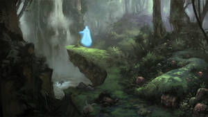 The Ghost by the Waterfall by lamwin