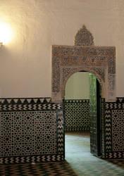 Palace doorway with envelope by barefootliam