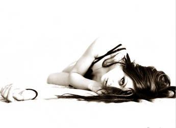 Self Portrait, lying by larafairie
