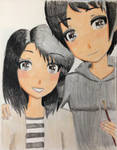 Request: Tda Karin and Dayo Portrait (Colored!) by Myindiansummer