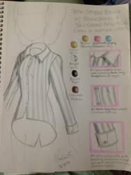 Fashion Sketch #1: Satin Striped Blouse by Myindiansummer