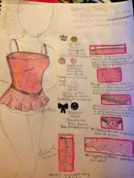 Fashion Sketch #2: Sparkly Babydoll by Myindiansummer