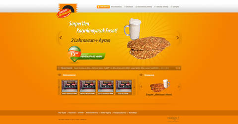 Sarper Lahmacun Corporate Web Site by nywork