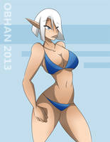 High Elf Pinup by Obhan