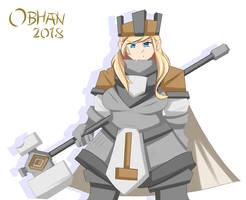 Dwarven Cleric (Mira Hauke) by Obhan