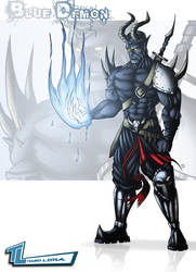The Blue Demon Warrior by RoxedoArt