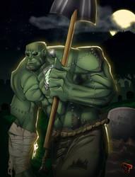 Frankenstein's Monster by RoxedoArt