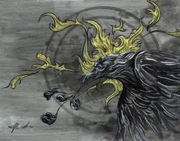 Raven's Sun by manfishinc