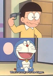 Doraemon being savage by usopprules98