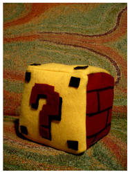 Question Mark block plush by estranged-illusions