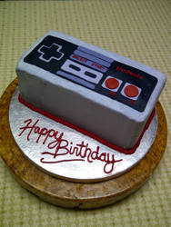 NES Controller Cake by estranged-illusions