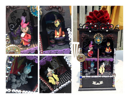 Disney Villains Shrine by estranged-illusions