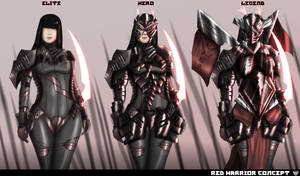 Red Warrior concept by SteelJoe