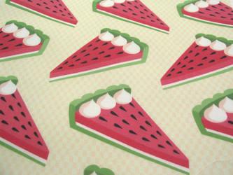 Watermelon pie fabric design by AnneKo
