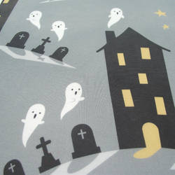 Haunted house fabric design by AnneKo