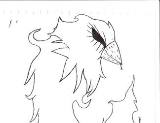 snake phoenix (uncolored) by comicsfordays