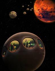 Earth-Mars Transplantation Project, 2042 by RonSandersatwork