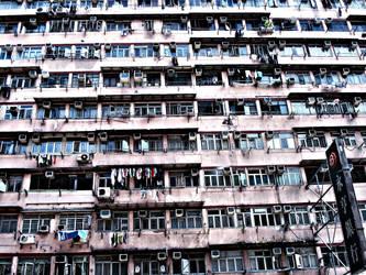 apartment windows - Hong Kong by vmrk999