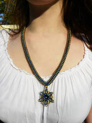Chainmail necklace, Celtic Star by bakaneko89
