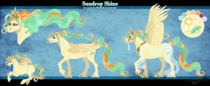 COM: Sundrop Shine Reference Sheet by BijutsuYoukai