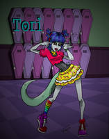 Tori-colored-BG by RioAzimora