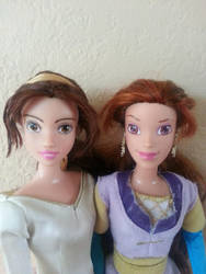 Kayley Doll Quest For Camelot Comparison by everenthia