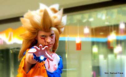 Goku ssj3 battle damaged by Alexcloudsquall