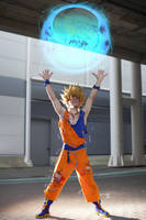 Goku cosplay Genki Dama by Alexcloudsquall