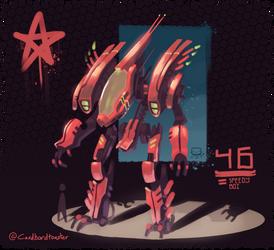 speedy robo boi by Cardbordtoaster