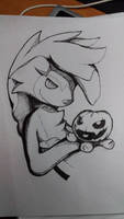 Spooky Lycanroc (inktober) by Alyx-SKat