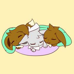 Three Lovely Siblings by Alyx-SKat