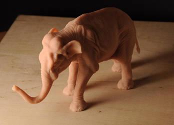 Asian Elephant Figure by Heliot8