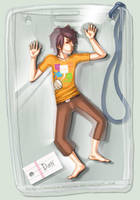 Trapped in an ID Jacket by Noojie-Woojie