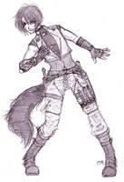 Feral Heiss, Strays 'Hunter' by KitsuneEikoudan