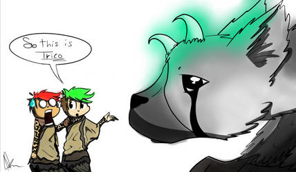 Jack introducing Mark To Trico by AVeryMerryPony